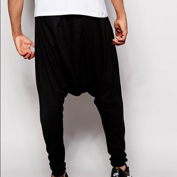 060dbfdc664e New Asos Drop Crotch Joggers Pants Size L Black
